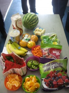 The fruit and vegetables we started with!