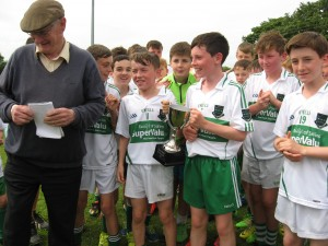 Sallins receiving the cup!